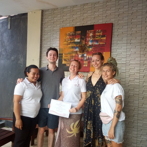 Cleo Ziengs testimonials on Reeva spa school
