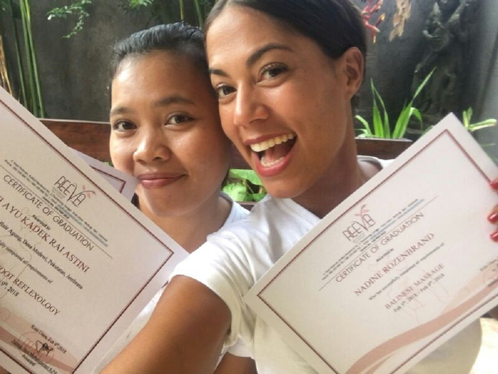 Reeva spa school graduated students